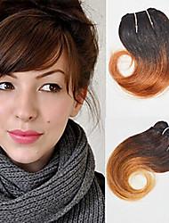 cheap -4 Bundles Brazilian Hair Wavy Human Hair Ombre 8 inch Human Hair Weaves Human Hair Extensions