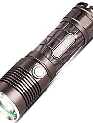 Недорогие -Supfire Светодиодные фонари LED подсветка Сигнальный огонь для бега Светодиодная лампа LED 1 излучатели 5 Режим освещения с батареей и USB кабелем / Алюминиевый сплав / IP67 / Водонепроницаемый