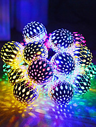 cheap -Solar String Lights Moroccan Ball Waterproof 5m 20LED Balls Globe Fairy String Lights Orb Lantern Christmas Lighting for Outdoor Party Home Decoration