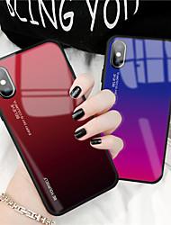 Недорогие -Кейс для Назначение Apple iPhone XS / iPhone XR / iPhone XS Max С узором Кейс на заднюю панель Слова / выражения / Градиент цвета Мягкий Закаленное стекло