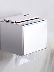 cheap -Bathroom Toilet Tissue Box Stainless Steel Tray Carton Hotel Large Roll Tray Paper Towel Holder