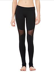 abordables -Femme Pantalon de yoga Mode Maille Elasthanne Course / Running Fitness Entraînement de gym Collants Tenues de Sport Evacuation de l'humidité Séchage rapide Contrôle du Ventre Power Flex Haute / Slim
