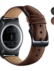 abordables -Bracelet de Montre  pour vivomove / vivomove HR / Vivoactive 3 Garmin Bracelet Sport Vrai Cuir Sangle de Poignet
