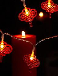 Недорогие -7 м китайский свет шнура узел 30 светодиодов красный фестиваль новый год декоративные солнечные 1 комплект