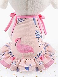 Недорогие -Собаки Коты Платья смокинг Одежда для собак Лиловый Розовый Костюм Гончая Шиба-Ину Мопс Сетка Животное Цветочные ботанический Звезды Мода Симпатичные Стиль XS S M L XL XXL