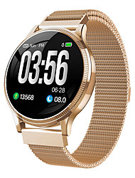 Недорогие -MK08 SmartWatch из нержавеющей стали BT Поддержка фитнес-трекер уведомить ультратонкий круглый SmartWatch для телефонов Samsung / Iphone / Android