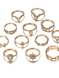cheap -Ring Gold Alloy Elegant Holiday European 12pcs Adjustable / Women's