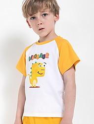 cheap -Kids Boys' Basic Print Print Short Sleeve Cotton Tee Yellow