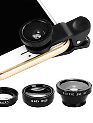 cheap -Mobile Phone Lens Fish-Eye Lens ABS+PC 25 mm 180 ° Lens with Case / Cool