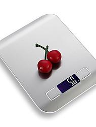 Недорогие -5 кг цифровой кухонные весы 5000 г / 5 г жк-ультра тонкий из нержавеющей стали платформы пищевые весы с подсветкой приготовления мера инструменты