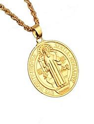 Недорогие -Ожерелья с подвесками Вера Хип-хоп Хром Золотой 80 cm Ожерелье Бижутерия Назначение