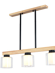 cheap -JSGYlights 3-Light Island Chandelier Ambient Light Painted Finishes Wood Wood / Bamboo Glass New Design 110-120V / 220-240V