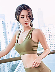 cheap -Women's Sports Bra Top Sports Bra Pullover Sports Bra Fitness Jogging Gym Workout Lightweight Breathable Quick Dry Padded Light Support Black Green Fashion / Sweat-wicking