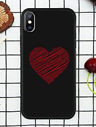 Недорогие -чехол для яблока красный любовь задняя крышка 3d мультфильм мягкий тпу для iphone х / х с / хр / хс макс / 7p / 8p / 6p / 8/7/6