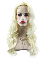 cheap -Synthetic Wig Wavy Body Wave Scarlett Free Part Wig Blonde Long Light Blonde Synthetic Hair 26 inch Women's Adjustable Heat Resistant Easy dressing Blonde