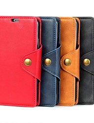 cheap -Case For OnePlus OnePlus 6 / One Plus 6T / One Plus 7 Wallet / Card Holder / with Stand Full Body Cases Solid Colored Hard PU Leather