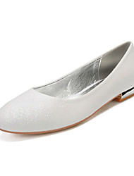 cheap -Women's Wedding Shoes Flat Heel Round Toe Classic Sweet Wedding Party & Evening Gleit Black Champagne Ivory
