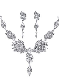cheap -Women's Bridal Jewelry Sets Geometrical Drop Wings Stylish Elegant Earrings Jewelry Silver For Wedding Party Two-piece Suit
