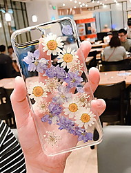 cheap -Case For Apple iPhone 12 / iPhone 12 Mini / iPhone 12 Pro Max Transparent / Pattern Back Cover Transparent / Flower Soft Silicone
