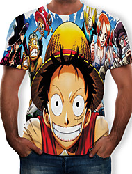cheap -Inspired by One Piece Cosplay Anime Cosplay Costumes Japanese Cosplay T-shirt 3D T-shirt For Men's