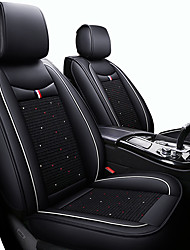 cheap -Cute Cartoon Car Seat Cushions Black / Red / Black / White / Black / Blue PU Leather / leatherette Business For universal All years Five seats