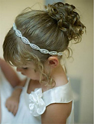 cheap -Toddler Girls' Basic / Sweet Floral Floral Style Faux Fur / Lace Hair Accessories Silver One-Size