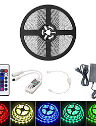 cheap -5M Smart WIFI LED Light Strips RGB Tiktok Lights SMD 5050 10mm Light 24Keys 300LED IP65 Waterproof DC12V With 5A EU Power