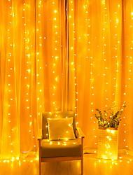 cheap -3m String Lights 300 LEDs 1 set Warm White Decorative 220-240 V