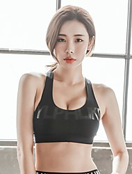 cheap -Women's Sports Bra Top Sports Bra Bra Top Open Back Yoga Running Fitness Breathable Quick Dry Sweat-wicking Padded Light Support Black White Fashion