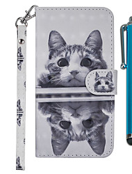 cheap -Case For Samsung Galaxy J7 (2017) / J6 (2018) / J6 Plus Wallet / Card Holder / with Stand Full Body Cases Cat Hard PU Leather