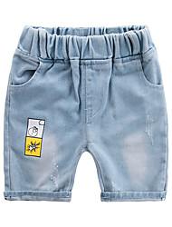 cheap -Kids Boys' Active Basic Solid Colored Color Block Cotton Jeans Blue