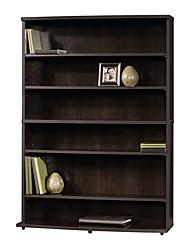 Недорогие -современный 6-полочный книжный шкаф для хранения мультимедиа с отделкой из корицы и вишни