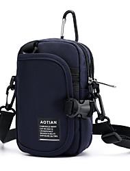 abordables -Femme Fermeture Polyester / Nylon Mobile Bag Phone Couleur unie Noir / Bleu de minuit / Gris / Automne hiver