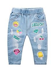cheap -Kids Boys' Basic Street chic Geometric Print Cotton Jeans Blue