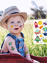 cheap -6 pcs Temporary Tattoos Eco-friendly / Water Resistant / Disposable Face / Body / brachium Environmentally Friendly Ink