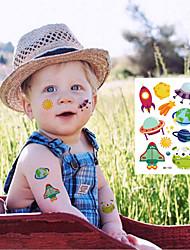 Недорогие -6 pcs Временные татуировки Экологичные / Защита от влаги / Одноразового использования Лицо / Корпус / плечо Экологически чистые чернила