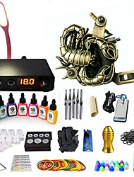cheap -BaseKey Tattoo Machine Starter Kit - 1 pcs Tattoo Machines with 7 x 15 ml tattoo inks, Professional, New Aluminum Alloy LED power supply Case Not Included 18 W 1 rotary machine liner & shader