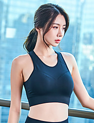 cheap -Women's Sports Bra Top Sports Bra Bra Top Racerback Yoga Running Fitness Breathable Quick Dry Sweat-wicking Padded Light Support Black Violet Fashion