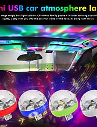 Недорогие -мини usb диско свет светодиодные фонари вечеринки портативный хрустальный магический шар красочный эффект сценический светильник