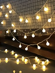 cheap -LED Ball String Light Outdoor Wedding Decoration 10M Ball Chain Fairy Garland Lights Bulb Light Waterproof for Outdoor Wedding Christmas Home Bedroom Decoration