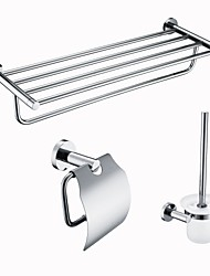cheap -Bathroom Accessory Set New Design Modern Stainless Steel / Iron / Mixed Material 3pcs - Bathroom Double Wall Mounted