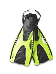 cheap -YON SUB Diving Fins Professional Anti-skidding Adjustable Strap Diving Snorkeling Water Sports TPR PP - for Adults Black Yellow Blue