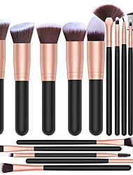 cheap -16pcs makeup brushes set, 4pcs beauty blender sponge set and 1 brush cleaner, premium synthetic foundation brushes blending face powder eye shadows make up brushes kit