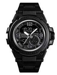 Недорогие -SKMEI Муж. Армейские часы Морские часы с печатью Цифровой Черный 50 m Армия Bluetooth Smart Аналого-цифровые На открытом воздухе Мода - Черный Синий Золотистый Один год Срок службы батареи