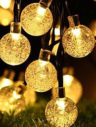 Недорогие -4м Гирлянды 20 светодиоды 1 комплект Разные цвета Работает от солнечной энергии / Декоративная Солнечная энергия