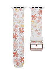 cheap -Flower Smartwatch Band for Apple Watch Series 5/4/3/2/1 Silica Gel Classic Buckle iwatch Strap