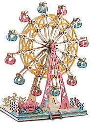 abordables -Puzzles en bois Jeux de Logique & Casse-tête Grande roue Fait à la main Interaction parent-enfant En bois 1 pcs Enfant Adulte Tous Jouet Cadeau