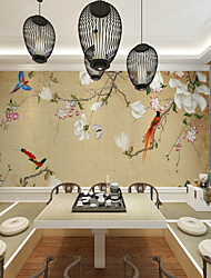 cheap -Wallpaper / Mural / Wall Cloth Canvas Wall Covering - Adhesive required Floral / Botanical / Art Deco / Pattern