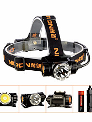 cheap -NICRON® H30 Headlamps Waterproof 900 lm LED LED 1 Emitters with Battery and USB Cable Waterproof Professional Camping / Hiking / Caving Everyday Use Black