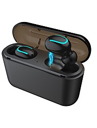 cheap -soyto Q32 Wired In-ear Earphone Wireless Bluetooth 5.0 Stereo with Microphone with Charging Box Mobile Phone